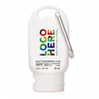 Australian Made Sunscreen SPF 50+ on Carabiner 60ml