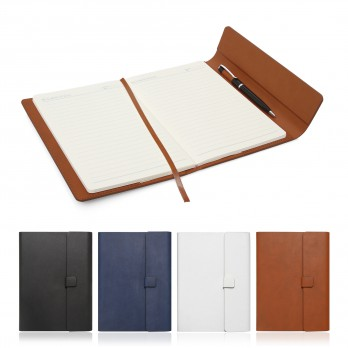 A5 Journal with Leather Look Sleeve