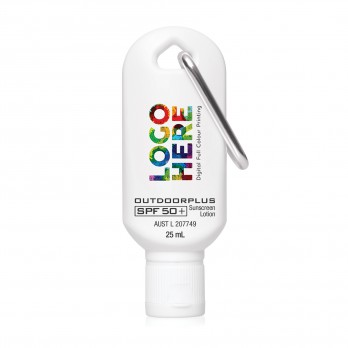 Australian Made Sunscreen SPF 50+ on Carabiner 25mL