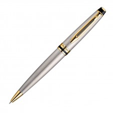 Waterman New Expert Ballpoint Pen - Brushed Stainless GT
