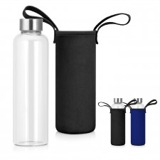 600mL Glass Drink Bottle w/Neoprene Sleeve