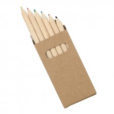6 Pack Natural Wood Colouring Pencils
