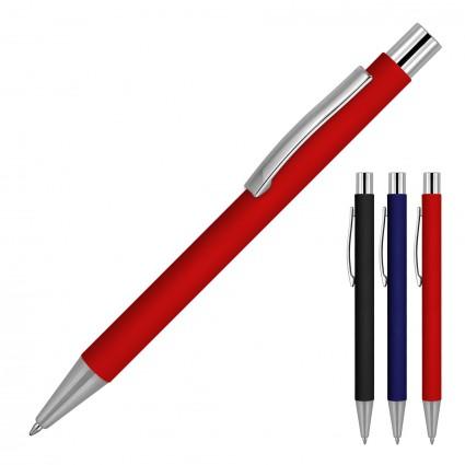 Michaela Matte Rubber Metal Ballpoint Pen