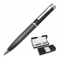 Metal Pen Ballpoint Derofe Stripe Black
