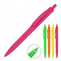 Plastic Pen Ballpoint Fluoro Xavier