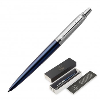 Parker Jotter Metal Ballpoint Pen - Royal Blue CT