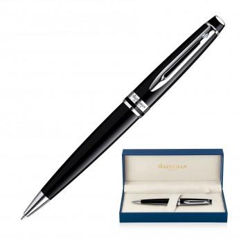 Metal Pen Ballpoint Waterman Expert - Lacquer Black CT
