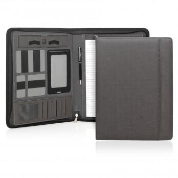 Milano Executive Tech A4 Compendium w/Powerbank & Zipper