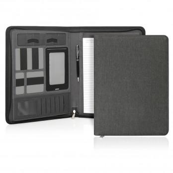 Ebony Executive Tech A4 Compendium w/Zipper