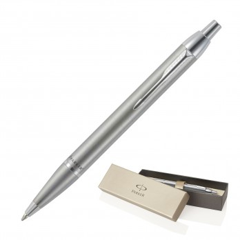 Metal Pen Ballpoint Parker IM - Brushed Stainless CT
