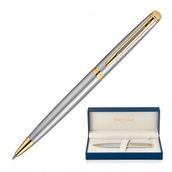 Metal Pen Ballpoint Waterman Hemisphere - Brushed Stainless GT