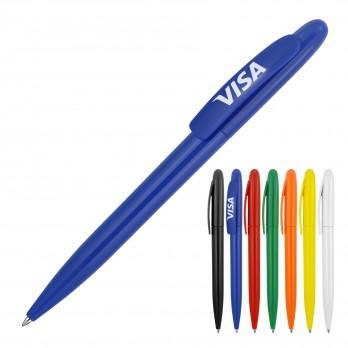 Plastic Pen Ballpoint Gloss Solid Colours Sierra