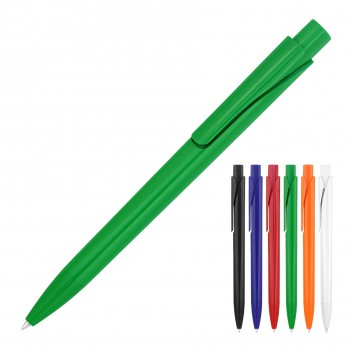 Plastic Pen Ballpoint Solid Colours Romana