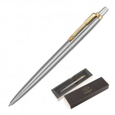 Parker Jotter Metal Ballpoint Pen - Brushed Stainless GT