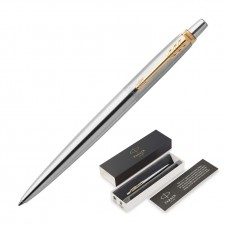 Metal Pen Ballpoint Parker Jotter - Brushed Stainless GT