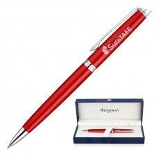 Metal Pen Ballpoint Waterman Hemisphere - Comet Red CT