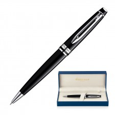 Metal Pen Ballpoint Waterman Expert - Lacquer Black CT