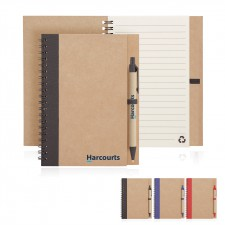 Eco Notebook Recycled Paper Spiral Bound with Z244