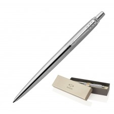 Metal Pen Ballpoint Parker Jotter - Brushed Stainless CT