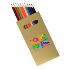 10 Pk Natural Wood Colouring Pencil
