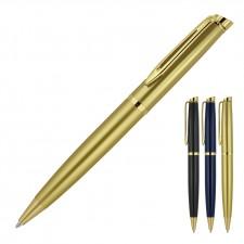 Metal Pen Ballpoint Prestige Gold Trim Hubert