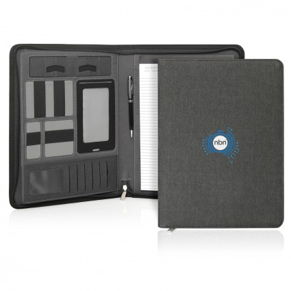 Ebony Executive Tech A4 Compendium w/Zipper