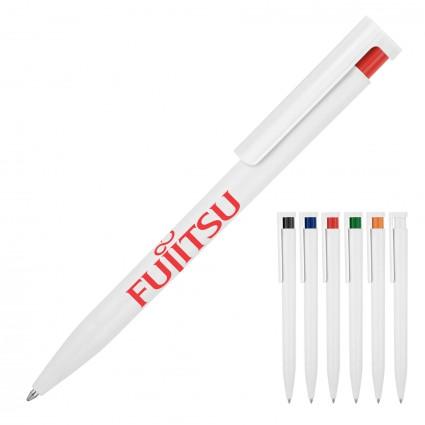 Plastic Pen Ballpoint Coloured Accent Uno